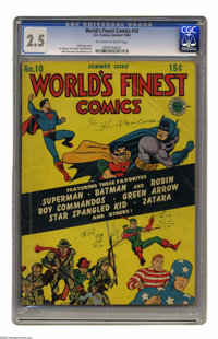 World's Finest Comics #10 (DC, 1943) CGC GD+ 2.5 Off-white to white pages. Bob Kane, Jerry Robinson, and Simon and Kirby...
