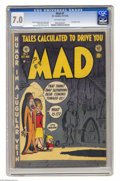 Golden Age (1938-1955):Humor, Mad #1 (EC, 1952) CGC FN/VF 7.0 Off-white pages. The first satire comic book, Mad #1 was also one of the most influentia...