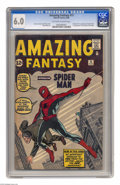 Silver Age (1956-1969):Superhero, Amazing Fantasy #15 (Marvel, 1962) CGC FN 6.0 Off-white to whitepages. This is the most valuable comic book of the Silver A...