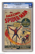 Silver Age (1956-1969):Superhero, The Amazing Spider-Man #1 (Marvel, 1963) CGC VF- 7.5 Cream tooff-white pages. Marvel's most famous and enduring character d...