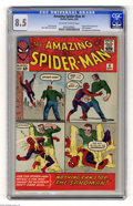Silver Age (1956-1969):Superhero, The Amazing Spider-Man #4 (Marvel, 1963) CGC VF+ 8.5 Off-white towhite pages. The Sandman made his first appearance in this...