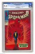 Silver Age (1956-1969):Superhero, The Amazing Spider-Man #50 (Marvel, 1967) CGC NM 9.4 Off-white to white pages. This comic took on a new relevance this summe...