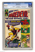 Silver Age (1956-1969):Superhero, Daredevil #1 (Marvel, 1964) CGC VF+ 8.5 Off-white to white pages.Silver Age star turned movie star Daredevil made his first...