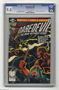Modern Age (1980-Present):Superhero, Daredevil #168 (Marvel, 1981) CGC NM 9.4 Off-white to white pages.Origin and first appearance of Elektra. Frank Miller's fi...