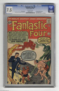 Silver Age (1956-1969):Superhero, Fantastic Four #6 (Marvel, 1962) CGC VF- 7.5 Off-white pages. Two issues previously, the FF battled the Sub-Mariner... One i...