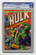 Bronze Age (1970-1979):Superhero, The Incredible Hulk #181 (Marvel, 1974) CGC NM- 9.2 White pages.Wolverine explodes into action in his first full comic book...