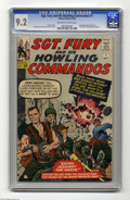 Silver Age (1956-1969):War, Sgt. Fury and His Howling Commandos #1 (Marvel, 1963) CGC NM- 9.2 Off-white to white pages. This book is much harder to find...
