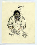 "Original Comic Art:Sketches, Greg Irons - ""Vince"" Sketch Original Art (1979). The late Greg Irons was one of the leading lights in Underground Comix. His..."