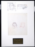 "Animation Art:Miscellaneous, Walt Disney Studios -- ""Snow White and the Seven Dwarfs"" OriginalPencil Design Sketches. (1930s). Disney design artist and ..."