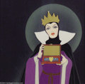 "Animation Art:Miscellaneous, Walt Disney Studio -- ""Snow White and the Seven Dwarfs"" OriginalHand Painted Production Cel. (1937). The Wicked Queen opens..."