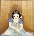 "Animation Art:Miscellaneous, Walt Disney Studios -- ""Snow White and the Seven Dwarfs"" OriginalHand Painted Production Cel and Courvoisier Background (1937)...."