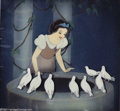 "Animation Art:Miscellaneous, Walt Disney Studios -- ""Snow White and the Seven Dwarfs"" OriginalHand Painted Production Cel and Courvoisier Background. (1937)..."