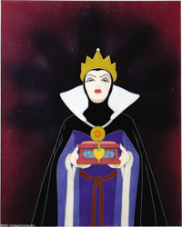 "Walt Disney Studios -- ""Snow White and the Seven Dwarfs"" Original Hand Painted Production Cel. (1937). The Wic..."
