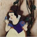 "Animation Art:Miscellaneous, Walt Disney Studios -- ""Snow White and the Seven Dwarfs"" OriginalHand Painted Production Cel. (1937). Snow White kneels to ..."