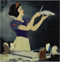 "Animation Art:Miscellaneous, Walt Disney Studios -- ""Snow White and the Seven Dwarfs"" Original Hand Painted Production Cel with Hand Painted Courvoisier Ba..."