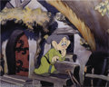 "Animation Art:Miscellaneous, Walt Disney Studios -- ""Snow White and the Seven Dwarfs"" Original Hand Painted Production Cel. (1937). Dopey is a delight in..."