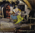"Animation Art:Miscellaneous, Walt Disney Studios -- ""Snow White and the Seven Dwarfs"" OriginalHand Painted Production Cel and Print Background. (1937). ..."