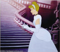 "Animation Art:Miscellaneous, Walt Disney Studios -- ""Cinderella"" Original Hand PaintedProduction Cel. (1950). Cinderella stands tall and lovely in this..."