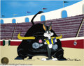 "Animation Art:Miscellaneous, Warner Brothers Productions -- ""Bully For Bugs III"" Hand PaintedLimited Edition Cel. (1992). Bugs Bunny finds himself confr..."