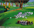 "Animation Art:Miscellaneous, Warner Brothers Productions -- ""Par For The Course"" Hand Painted Limited Edition Cel. (1994). This golf scene is one of only..."