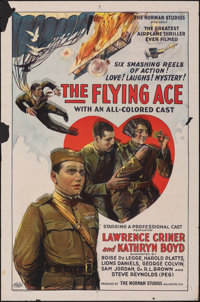 """The Flying Ace (Norman, 1926). Folded, Fine. One Sheet (27"""" X 41""""). Black Films"""