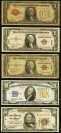 Fr. 1500 $1 1928 Legal Tender Note. Very Good; Fr. 1880-L $50 1929 Federal Reserve Bank Note. Very Fine; Fr. 2300 $1...