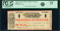 Obsoletes By State:Georgia, Augusta, GA- Augusta Savings Bank $1 Dec. 9, 1861 Certificate of Deposit PCGS Very Fine 25.. ...