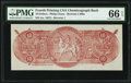 Miscellaneous:Other, Confederate Chemicograph Fourth Printing Reverse 1 Back $10 circa 1957-58 Bertram C468a PMG Gem Uncirculated 66 EPQ.. ...