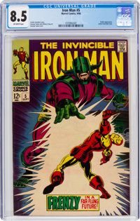 Iron Man #5 (Marvel, 1968) CGC VF+ 8.5 Off-white pages