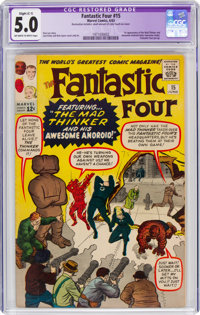 Fantastic Four #15 (Marvel, 1963) CGC Apparent VG/FN 5.0 Slight (C-1) Off-white to white pages