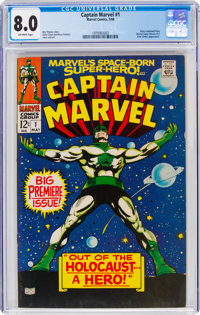 Captain Marvel #1 (Marvel, 1968) CGC VF 8.0 Off-white pages