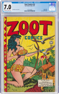 Zoot Comics #14 (Fox Features Syndicate, 1948) CGC FN/VF 7.0 Off-white to white pages