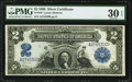Large Size:Silver Certificates, Fr. 249 $2 1899 Silver Certificate PMG Very Fine 30 EPQ.. ...