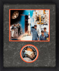 Explorers:Space Exploration, Apollo 13 Limited Edition Astronaut Scholarship Foundation Color Print, #10/300, Signed by Lovell and Haise, Matted and Frame...