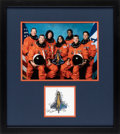 Explorers:Space Exploration, Space Shuttle Columbia (STS-107) Crew-Signed Mission Insignia Matted and Framed with a Color Photo....