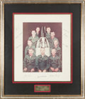 Explorers:Space Exploration, NASA Astronaut Group Two: Large Color Photo Signed on the Mat by All Nine, in Framed Display. ...
