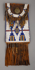 American Indian Art:Beadwork and Quillwork, A Cheyenne Beaded Leather Dispatch Case...