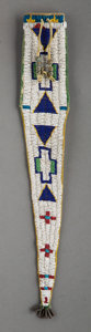 American Indian Art:Beadwork and Quillwork, A Ute Beaded Hide Tail Bag...