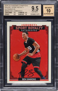 Basketball Cards:Singles (1980-Now), 2016 UD Goodwin Champions Ben Simmons (Goudey Sports Royalty Autographs) #SR-BS BGS Gem Mint 9.5, Auto 10....