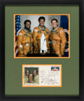Explorers:Space Exploration, (Space Shuttle) NASA's First Three African-American Astronauts in Space: Signed Cover Matted and Framed with Color Photo....