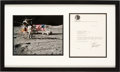 Explorers:Space Exploration, Gene Cernan Typed Letter Signed Matted and Framed with an Apollo 17 Lunar Surface Color Photo. ...