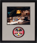 Explorers:Space Exploration, Apollo 13: Gene Kranz Signed (with Added Quote) Mission Control Color Photo Matted and Framed with an Embroidered Mission Con...