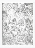 Original Comic Art:Illustrations, Frank Brunner Conan / Red Sonja / Dr. Strange Specialty Illustration Original Art (2003)....