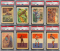 Non-Sport Cards:Lots, 1956 Topps Adventure PSA Graded Collection (16). ...