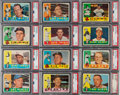 Baseball Cards:Lots, 1960 Topps Baseball PSA MINT 9 Graded Collection (37). ...