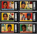 Baseball Cards:Sets, 1955 Topps Baseball Complete Set (206) With Wrapper. ...