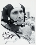 Explorers:Space Exploration, Richard Gordon Signed Apollo 12 Suiting Up Photo. ...
