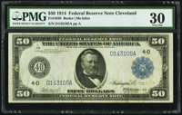 Fr. 1036 $50 1914 Federal Reserve Note PMG Very Fine 30