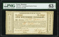 Obsoletes By State:Texas, Houston, TX- Consolidated Fund of Texas $100 Sep. 1, 1837 Cr. CF1 Medlar 69 PMG Choice Uncirculated 63 EPQ.. ...