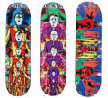 Collectible, Supreme X Gilbert & George. 1984 Pictures, set of three, 2019. Screenprints in colors on skate decks. 32 x 8 inches (81.... (Total: 3 Items)